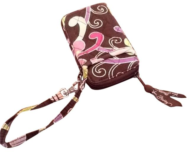 Item - Punch Brown and Purple Quilted Cotton Wristlet
