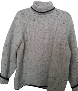 Woolrich Large Grey Shetland Wool Sweater