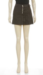 Barbara Bui Initials Mini Skirt Brown