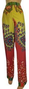 Etro Straight Pants Gold, red, green, navy, creme