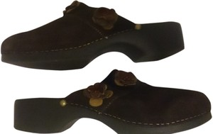 Liz Claiborne Summer Slip On Womens Boho Indie Sz 7 Brown Mules