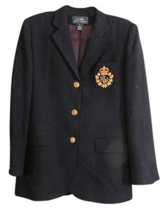 Ralph Lauren Navy blue with lauren gold logo and gold buttons throughout