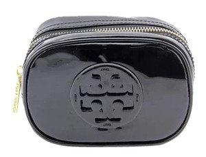 Tory Burch Black Patent Leather Tory Burch Cosmetic Make Up Case