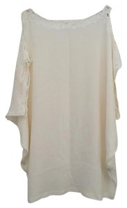 Natalie Martin Natalie Martin Lace and Button Trim Silk Cover Up