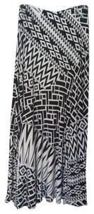 Chico's Maxi Skirt Black and white geometric