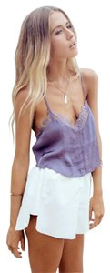 Free People Brami Silk Summer Lace Date Night Top Periwinkle