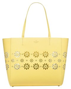 Kate Spade Faye Drive Hallie Satchel Tote in Lemonade