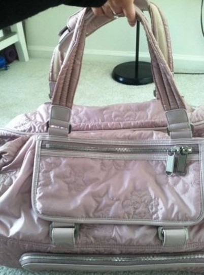Le SportSac Quilted Rolling Blush Travel Bag