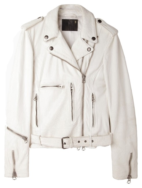 R13 Acne Studios Leather Acne Studios Allsaints Leather Iro White Leather White/Cream Leather Jacket