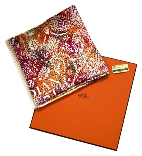Preload https://item3.tradesy.com/images/hermes-multi-orange-pink-light-green-yellow-indian-dust-90cm-square-scarfwrap-176062-0-0.jpg?width=440&height=440