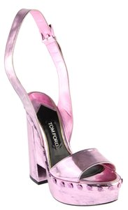 Tom Ford Metallic Pink Sandals