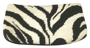 Clever Carriage Company Zebra Needlepoint Sale black/white Clutch