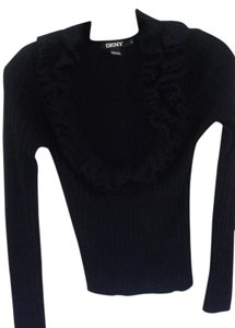 DKNY Wool Ruffle Sweater
