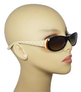 Chanel Vintage Retro Style Chanel Leather Quilting Sunglasses 5129Q C711/13