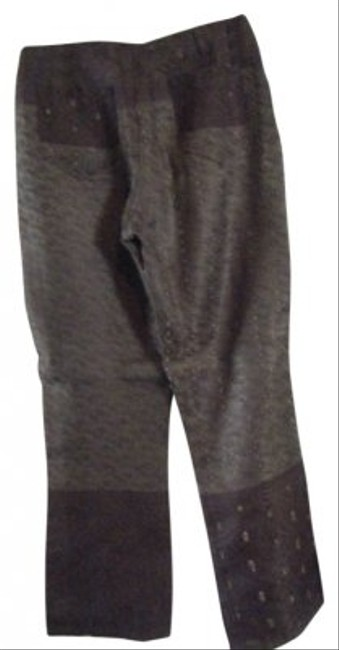 Other Straight Pants Two Toned Brown