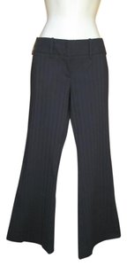 The Limited Dress Striped Low-rise Career Flare Pants Black