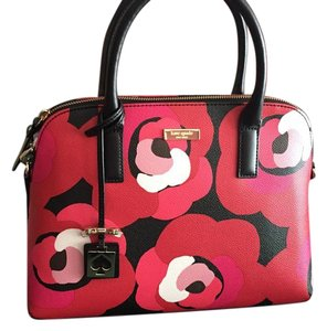 Kate Spade Bright Water Floral Rachelle Crossbody Satchel in Red