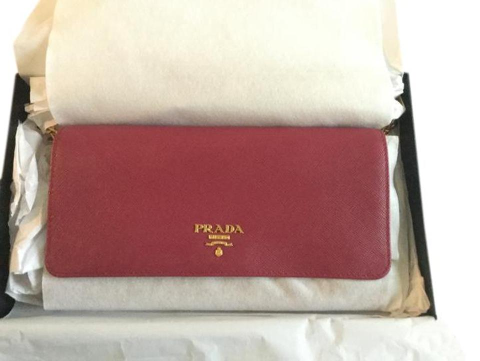 003dac98bc28 Prada Raspberry New Saffiano Woc Cross Body 3 Ways Wallet - Tradesy