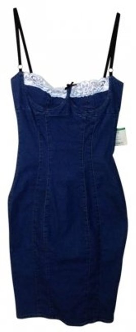 Preload https://img-static.tradesy.com/item/176086/dolce-and-gabbana-blue-denim-corset-style-high-low-short-casual-dress-size-8-m-0-0-650-650.jpg