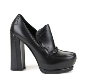 Bottega Veneta Leather Heel Black1000 Platforms