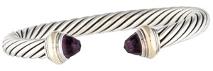 David Yurman Sterling silver David Yurman Cable Classic purple amethyst cuff bracelet