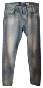 AG Adriano Goldschmied Relaxed Skinny Jeans-Distressed