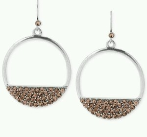 Kenneth Cole NEW KENNETH COLE Round Silver Earrings with Rhinestones Reg $32!