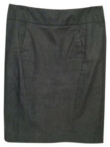 Ann Taylor LOFT Denim Pencil Suit Blue Skirt Dk Blue-Grey