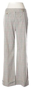 Nanette Lepore Cuffed Plaid Trouser Pants