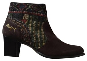 Desigual Pattern Colorful Fall Unique Vison Oscuro Boots