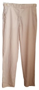 Helmut Lang Dress Linen Wool Trouser Pants Dusty Rose