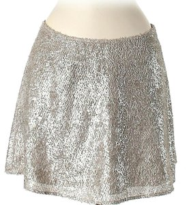 Theory Metallic Textured Mini Skirt