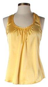 Trina Turk Silk Racer-back Top Yellow