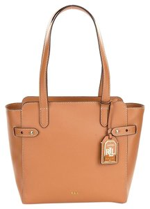 Ralph Lauren Tote in LIGHT CUOIO