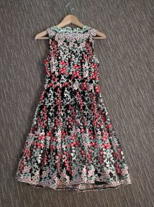 HD in Paris Anthropologie Embroidered 0p Dress