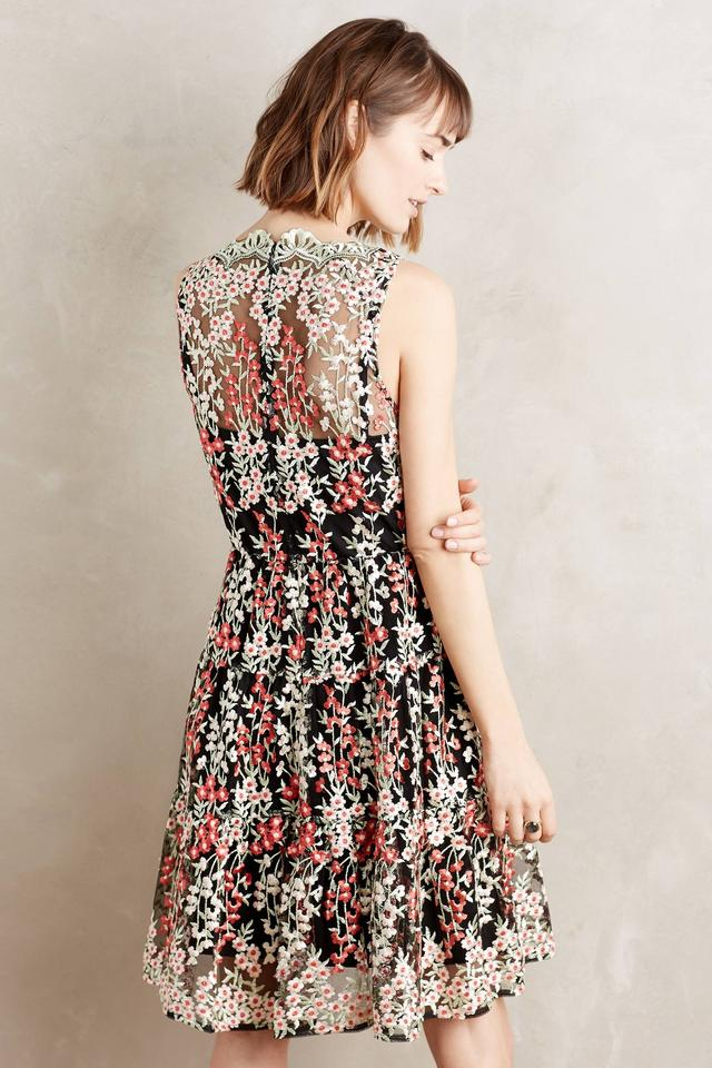 HD in Paris Floral Anthropologie Embroidered Emilia (0p) Mid-length ...
