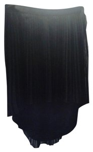American Eagle Outfitters Pleated High/low Hem Skirt Black