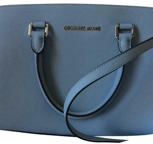 MICHAEL Michael Kors Satchel in Lt Blue