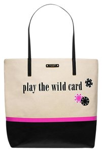 Kate Spade Bon New With Tags Tote in Natural Black & Pink