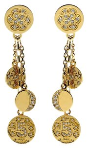 Chanel Chanel Charm Diamond Gold Earrings