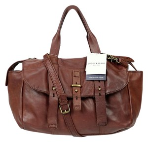 Lucky Brand Leather Satchel in Brown