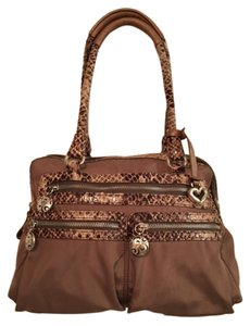 Brighton Pockets Travel Satchel in TAN SNAKESKIN