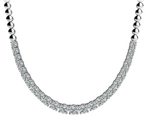 Avi and Co 3.00 cttw Round Cut Diamond Graduated Tennis Necklace F-G/VS-SI 14K White Gold