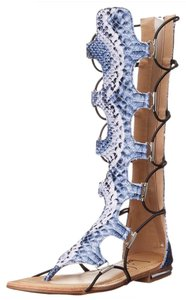 Luichiny Blue Snake Sandals