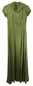 Monique Lhuillier Silk Silk Green Green Silk Dress