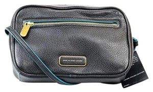 Marc by Marc Jacobs Blue Trim Leather Cross Body Bag