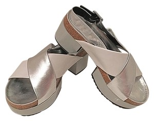 Robert Clergerie White and silver Sandals