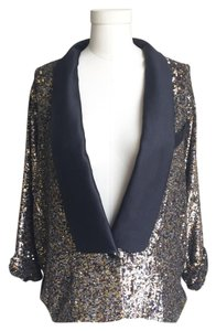 3.1 Phillip Lim Tuxedo Silk Sequin Jackie gold multi-color Blazer