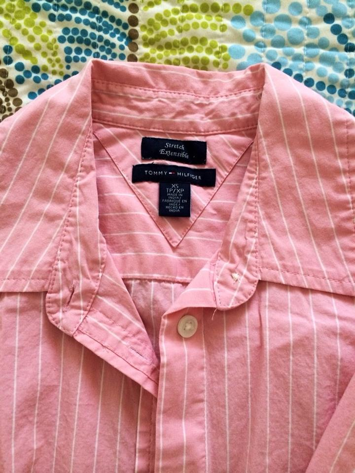 2311e975 Tommy Hilfiger Pink Button-down Top Size 2 (XS) - Tradesy