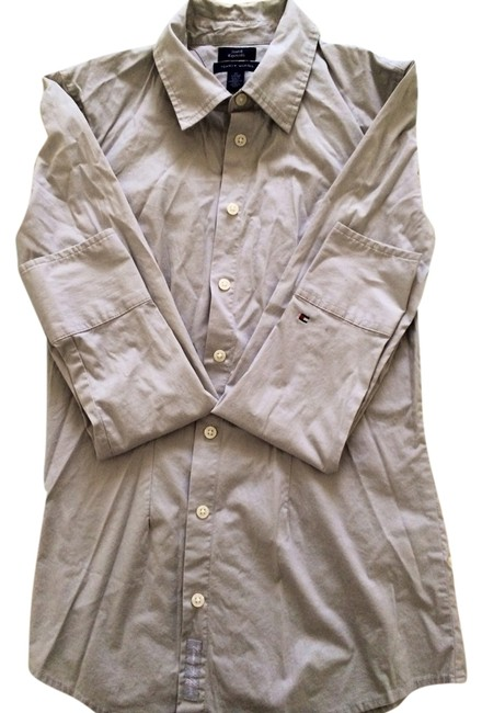 Preload https://item3.tradesy.com/images/tommy-hilfiger-grey-button-down-top-size-2-xs-1761312-0-0.jpg?width=400&height=650